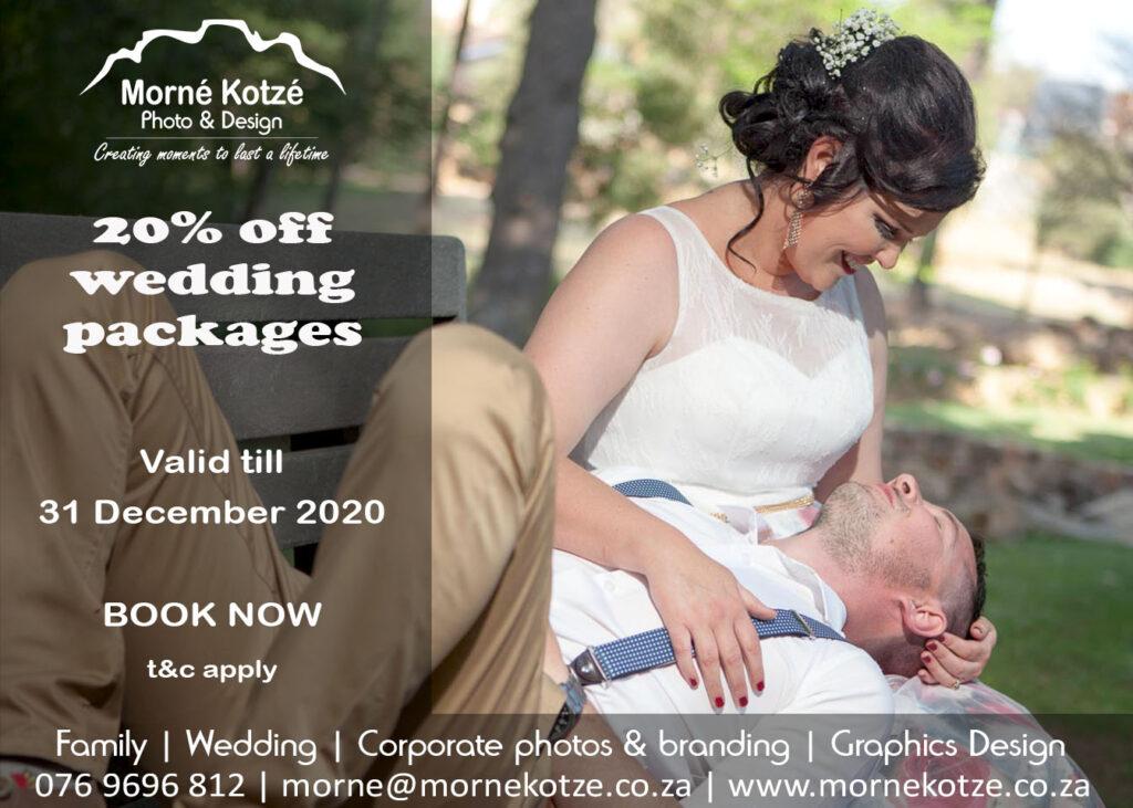 Wedding advert 2020 20% Discount